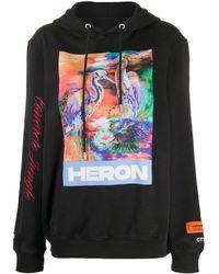 Heron Preston Felpa Heron con stampa - Nero