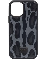 Dolce & Gabbana Leopard print iPhone 12 case - Noir