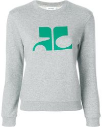 Courreges - Printed Sweatshirt - Lyst