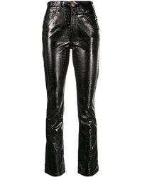 Chiara Ferragni スネークパターン パンツ - ブラック