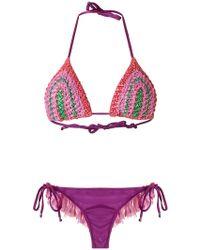 Amir Slama - Triangle Bikini Set - Lyst
