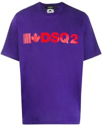 DSquared² Футболка С Логотипом - Пурпурный