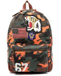 Polo Ralph Lauren Camouflage-Rucksack mit Tiger-Patch - Orange