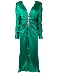 Alessandra Rich - Embellished Long Asymmetric Dress - Lyst