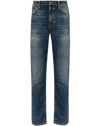 Nudie Jeans Lean Dean Indigo スリムジーンズ - ブルー