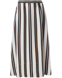 Roberto Collina - Striped Midi Skirt - Lyst