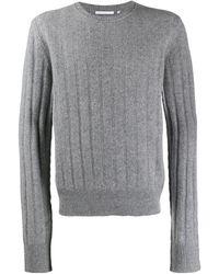 Helmut Lang リブニット セーター - グレー