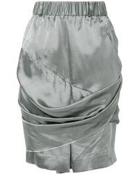 Moohong Draped Metallic Shorts