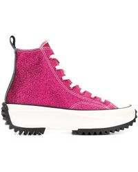 JW Anderson X Converse Run Star Hike High Top Sneakers - Pink