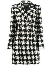 Balmain Шерстяное Пальто - Черный