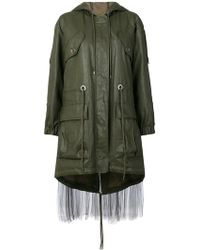 Moschino - Tulle Layer Nylon Parka - Lyst