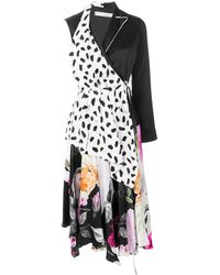 Off-White c/o Virgil Abloh Asymmetric Patterned Dress - Black
