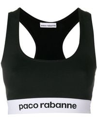 Paco Rabanne - Logo Embroidered Sports Top - Lyst