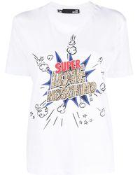 Love Moschino ロゴ Tシャツ - ホワイト