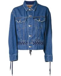 G.v.g.v - Denim Lace-up Jacket - Lyst