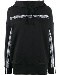 adidas ロゴ パーカー - ブラック