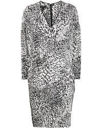ESCADA アブストラクトプリント ドレス - ホワイト