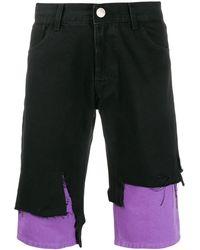 Raf Simons Pantalones vaqueros cortos - Negro