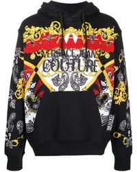 Versace Jeans Couture バロックプリント パーカー - ブラック