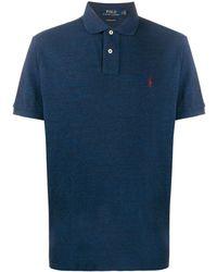 Polo Ralph Lauren コントラストロゴ ポロシャツ - ブルー