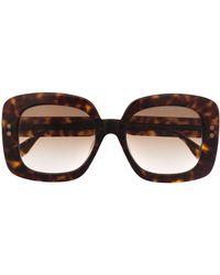 Bottega Veneta Sonnenbrille im Oversized-Look - Braun