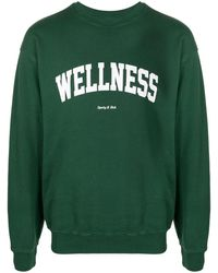 Sporty & Rich Slogan-print Sweatshirt - Green