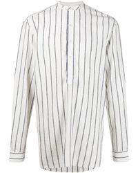 Lardini Полосатая Рубашка С Длинными Рукавами - Белый