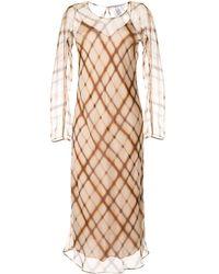 Agnona チェック ドレス - マルチカラー