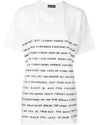 House of Holland Slogan Print T-shirt - White