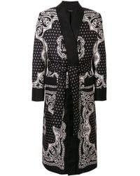 Dolce & Gabbana Badjas Met Print - Zwart