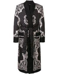 Dolce & Gabbana Albornoz con estampado de bandana - Negro