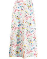 Gcds 90's Print A-line Skirt - White