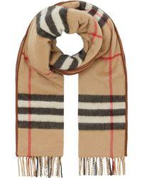 Burberry カシミア チェック スカーフ - マルチカラー