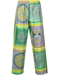 Versace Пижамные Брюки С Принтом Baroque - Зеленый
