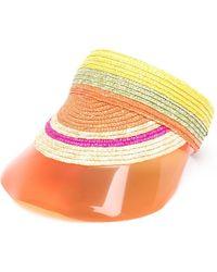Missoni Visière rayée à design tressé - Multicolore