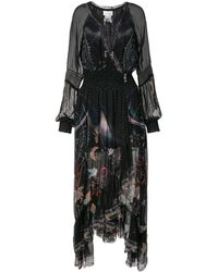 Camilla Robe portefeuille Midnight Moon à volants - Noir