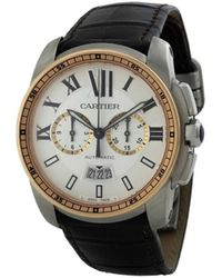 Cartier 2010 pre-owned Calibre de 42mm - Schwarz