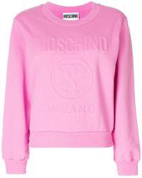 Moschino Embossed Sweatshirt - Pink