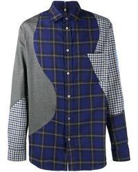 McQ Рубашка В Клетку - Синий
