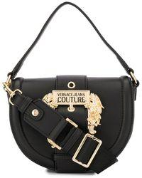 Versace Jeans Baroque Buckle Tote Bag - Black