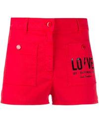 Love Moschino Шорты С Логотипом - Красный