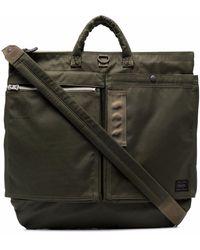 Porter ジップポケット ハンドバッグ - グリーン