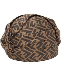 Fendi FF motif turban - Marron