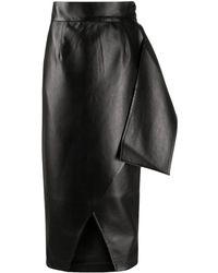 Matériel アニマルフリーレザー スカート - ブラック