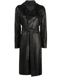 FEDERICA TOSI Belted Trench Coat - Black