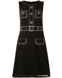 Boutique Moschino - Tromp L'oeil Sleeveless Dress - Lyst