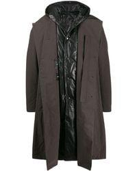 Attachment フーデッド レイヤードコート - マルチカラー