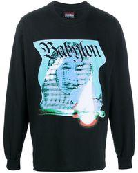 Babylon LA Burn ロゴ スウェットシャツ - ブラック