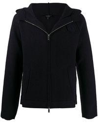 Emporio Armani フーデッドジャケット - ブルー