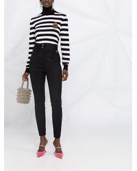 Dolce & Gabbana ロゴプレート スキニーパンツ - ブラック